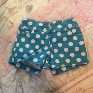 Mini Boden polka dot shorts